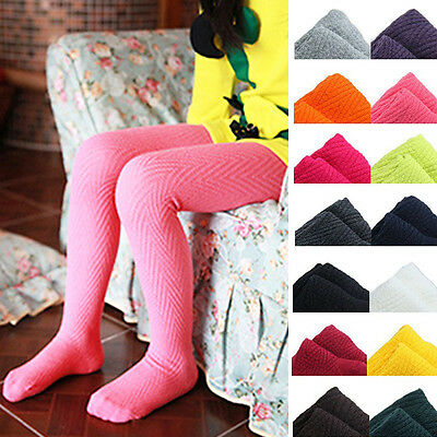 Baby Girls Kids Cotton Solid Color Warm Pants Tights Stockings Pantyhose S/M/L