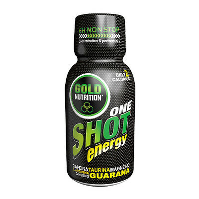 Bebida Energetica One Shot Energy Caja 20 Unidades - Gold Nutrition