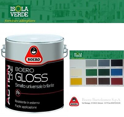 Smalto Antiruggine Boero Gloss Brillante Per Interni Ed Esterni Da 0,500Ml