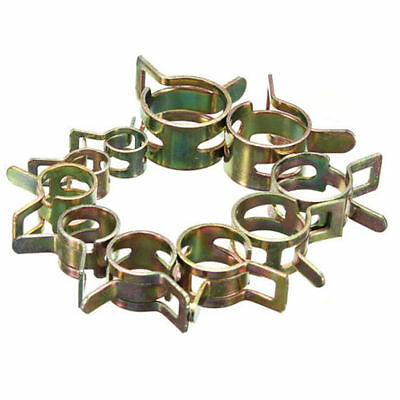 10X Air Petrol Pipe Clamp Hose Clips Pressure Spring Band Type Fuel HOT Low