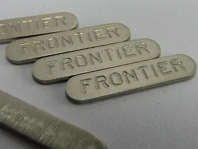 "NEW-KNIFE-PARTS-KITS-ACCESSORIES : SCHRADE ""FRONTIER"" Nickel Silver Sheilds"