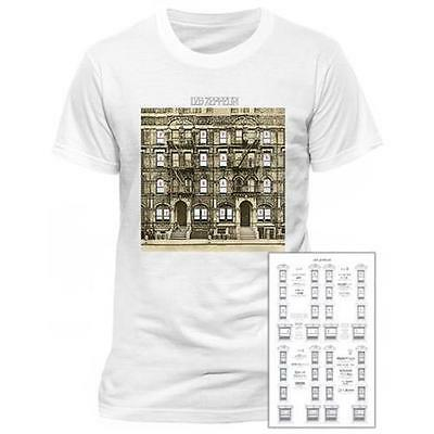 Led Zeppelin - Physical Graffiti Mens Cotton T-Shirt - New & Official In Bag