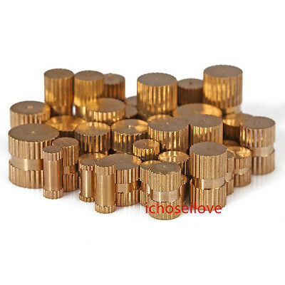10-100Pcs M-M8 Brass Solid Knurled Nuts Thumb Nuts Insert Blind-Hole