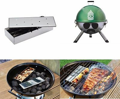 Charcoal Barbecue BBQ Grill Sergeant Smoker Box Garden Outdoor Cooking