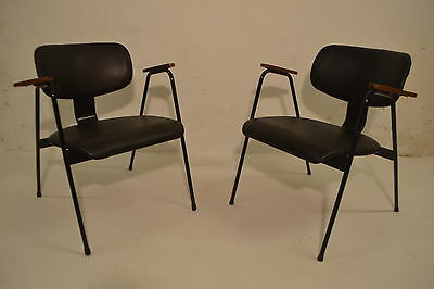 STUNNING PAIR VINTAGE WILLY VAN MEEREN F1 CHAIRS - 1950's - DANISH