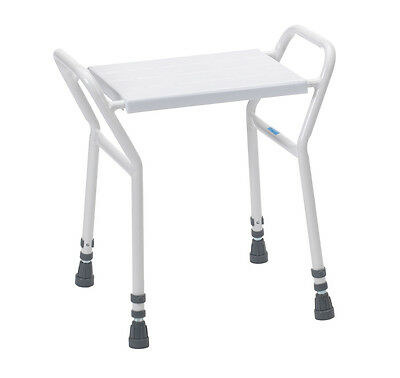 Bosworth Shower Seat Chair Stool Bench - Adjustable Height Bathroom Aid