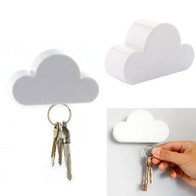 Magnetic Cloud-Shaped Holder Creative Keychain Key Holder White Cloud