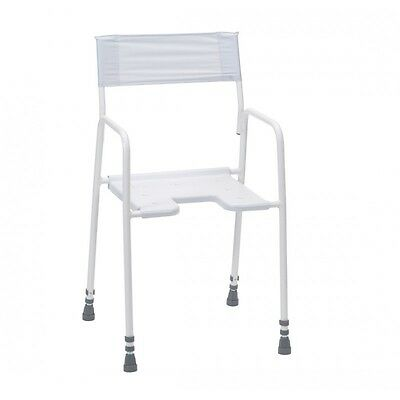 Bradgate Adjustable Height Shower Bench Stool -Available With / Without Backrest