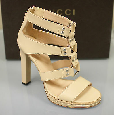 5f4fa81b7931  795 New GUCCI Gladiator Leather Platform Pumps Sandals SHOES 39 9 Sable  257872