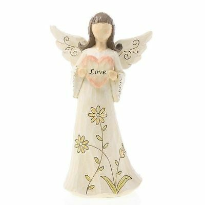 Love Angel Holding Heart Ornament Statue Figurine Ornament 20cm