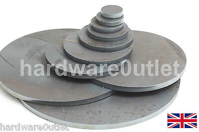 "10 mm 3/8"" Round Mild Steel Blank DISC Plate Sheet 10.0 mm Thick 40 - 300 mm Dia"