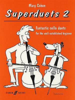 Superduets 2 for Established Beginners Cello Sheet Music Book Fantastic Duets