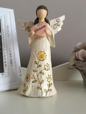 Dream Angel Holding Heart Ornament Statue Figurine Ornament 20cm New Boxed Gift