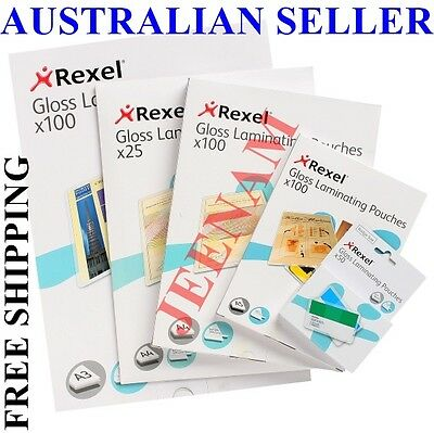 Laminating Pouches Rexel A4 2 X125 Micron (One Box Of 100) + Free Shipping