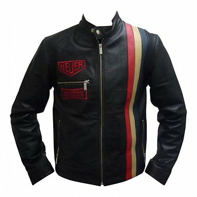 Grandprix Originals Heuer Vintage Leather Jacket Black