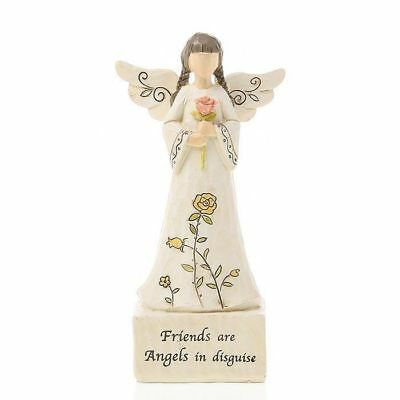 Friends Are Angels In Disguise Message Angel Statue Figurine Ornament 16cm Boxed