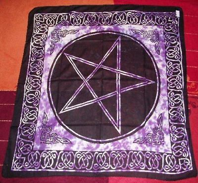 Pentagram Altar Tarot Cloth Cotton Wicca Pagan New Design
