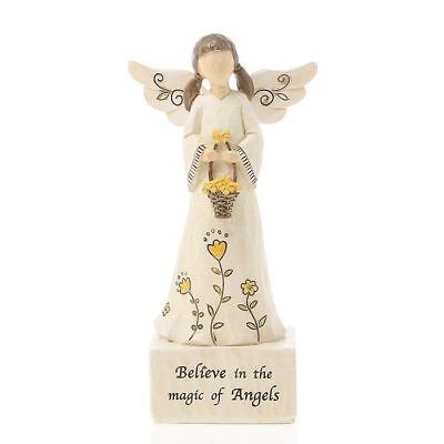 Message Angel Believe In The Magic Of Angels Statue Figurine Ornament 16cm Boxed