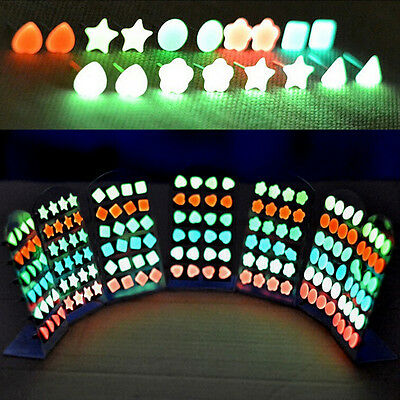 6pairs/lot New Fashion Charm Glow In The Dark (not LED Stud Earrings) for LADY