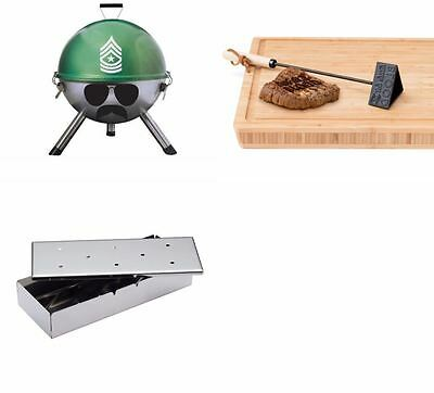 Charcoal Barbecue BBQ Grill Sergeant, Smoker Box, Branding Iron Garden Cooking