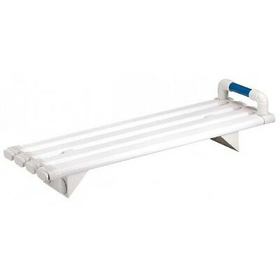 White Bath Bench With Handle - Ideal for transferring in and out of the bath