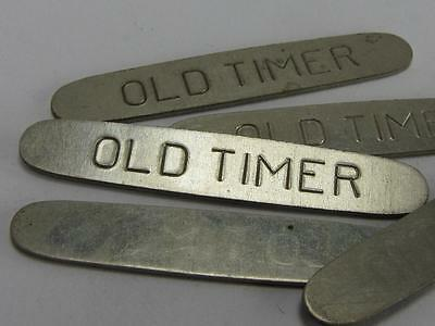 "NEW-KNIFE-PARTS-KITS-ACCESSORIES: LARGE SCHRADE""OLD TIMER"" Nickel Shields S446"