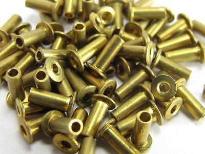 NEW-KNIFE-PARTS-KITS-ACCESSORIES: SCHRADE Brass SCALE Rivets 5 mm shaft S276
