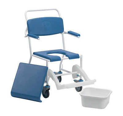 Uppingham Mobile Commode Shower Chair Mobility Disability Aid 172 High Quality