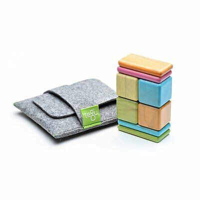 8 Piece Tegu Pocket Pouch Magnetic Wooden Block Set Tints, Holiday Toy List