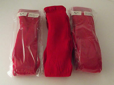 Girls thick ribbed tights - Red - 2-3 Years (GT-1)