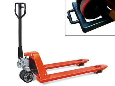 2 Ton Hand Pallet Pump Truck With Chock Standard Euro - 2000KG Fork Lift Trolley