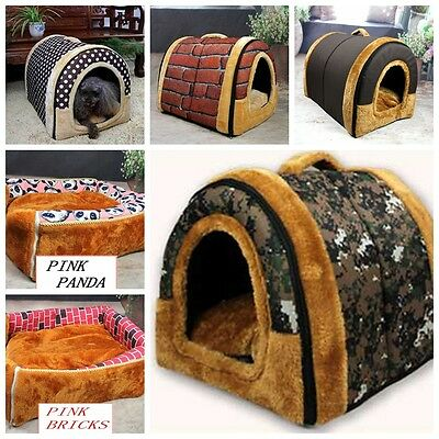 2016 Winter Warm Adorable Puppy Indoor Kennel Dog Cat Cushion Bed Washable House