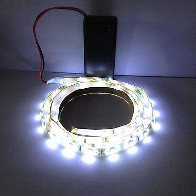 Exhibition Display white Led Lights 9V Battery Operated 1000mm Waterproof Strip