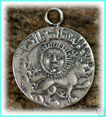 Ancient Replica COIN Sterling Silver Amulet Charm