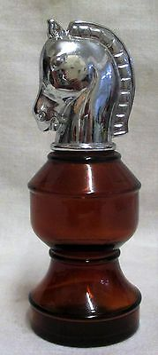 Vintage Avon Smart Move Knight Chess Piece Spicy After Shave Empty