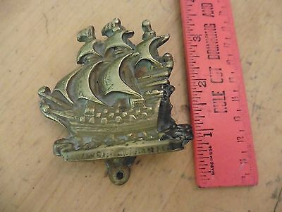 Vintage solid brass ship knocker door mounted boat sea nautical marine decor