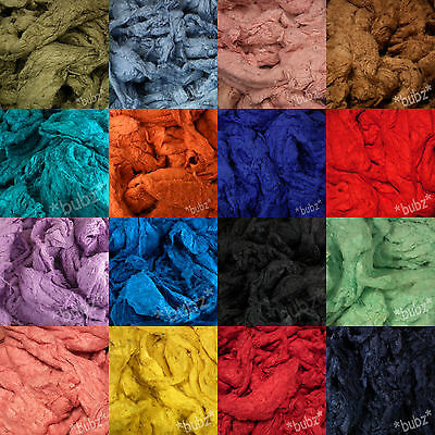 PURE SILK NOIL FIBRE LARGE 100g BAG SPINNING FELTING & CRAFTS SCRAP WASTE ROVING