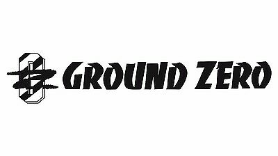 Ground Zero Logo Audio,Speaker Car sticker Buy 2 Get 3 Buy 3 Get 5 Buy 5 Get 10