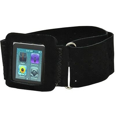 BLACK SPORTS WORKOUT RUNNING GYM WRIST ARM-BAND STRAP CASE for iPod Nano 6 6G