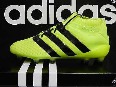 NEW ADIDAS Ace 16.1 Primeknit Firm Ground Soccer Cleats - S.Yellow/Black; S76470