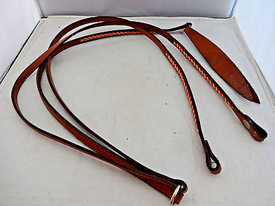 Rawhide Laced Champion Turf Romel Reins Horse Tack Western Double Stitched 5/8""