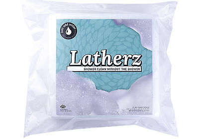 Latherz All in one No Rinse Body Wash / Bathing Sponge - 25 Cloths