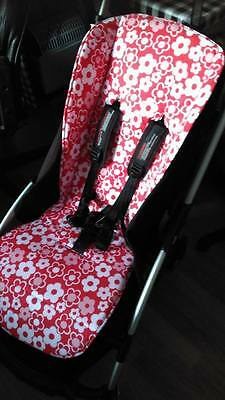 bugaboo bee reversible pram pushchair liner  foam padded  cotton or polycotton