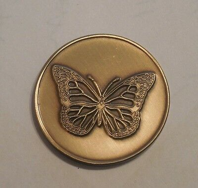 AA AL-ANON Alcoholics Anonymous Butterfly Sobriety Coin Token Medallion new