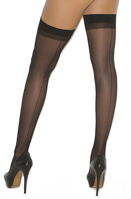 Sheer Thigh High Stockings with Back Seam EM1701