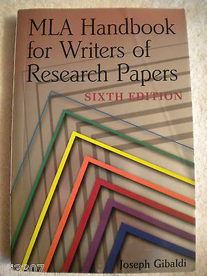 joseph gibaldi mla handbook for writers of research papers