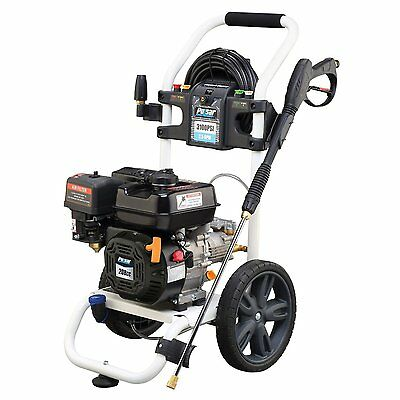 Gas Pressure Washer High PSI Pump Rolling Wand Soap Clean Driveway Sidewalk