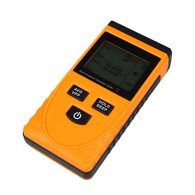 LCD Display Electromagnetic Radiation Detector Tester Monitoring Meter Measuring