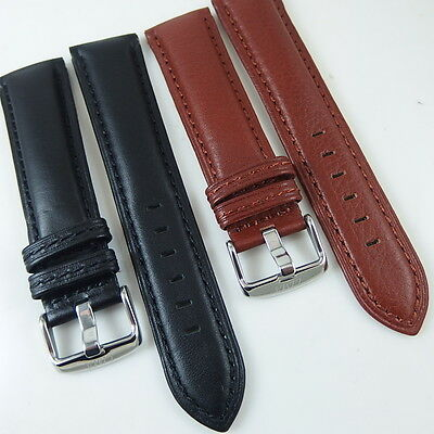 22mm 20 18 16 14 12 10 Mm Hq Brown Italy Iguana Grain Leather Watch Band Strap Wristwatch Bands