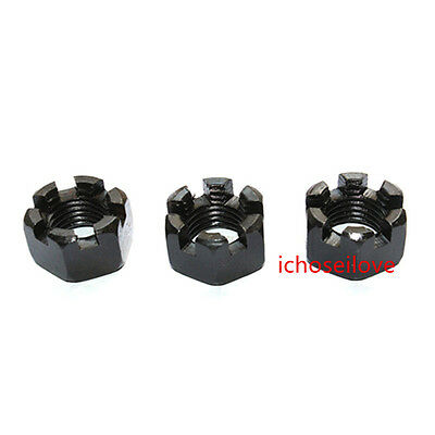 Slotted Hexagonal Castle Nuts M6-M24 Thread Zinc Plated IL